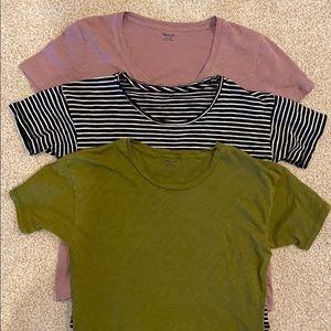 Lot of three Madewell tshirts.